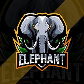 象のマスコットのロゴ