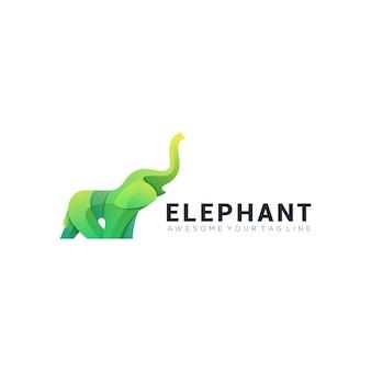 Elephant modern gradient color logo template
