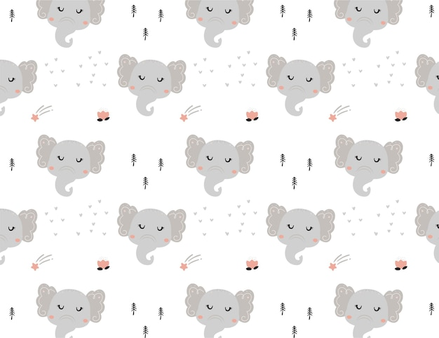 Elephant pattern for baby shower element