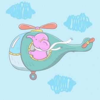 象のパイロット飛行機