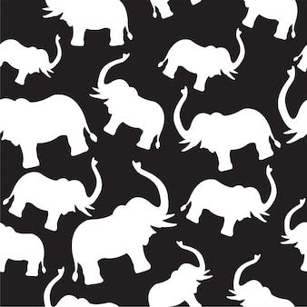 Шаблон печати слона