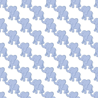 Elephant seamless pattern background