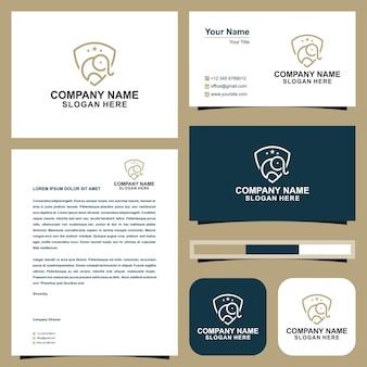 Elephant sheild  logo and business card
