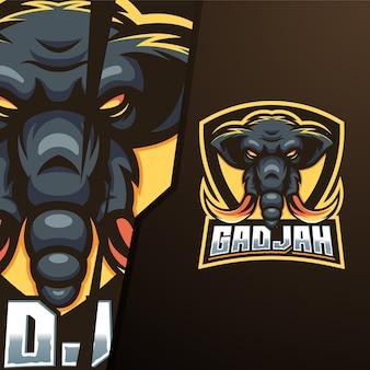 Elephant shield e sport logo template