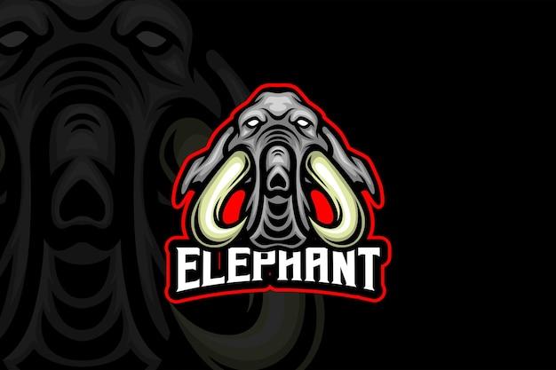 エレファントチーム-eスポーツロゴテンプレート