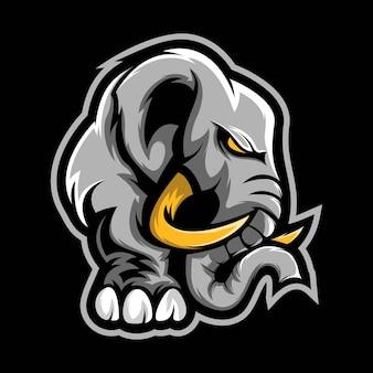 Elephant tribal mascot design vector