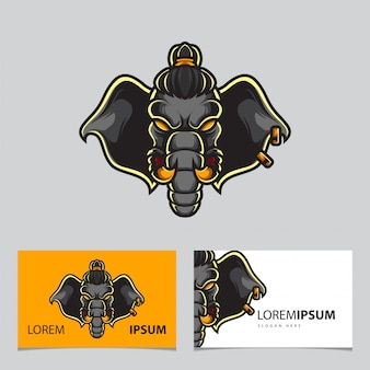 Elephant warrior sport logo