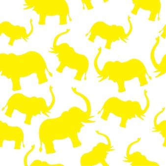 Слон желтый узор