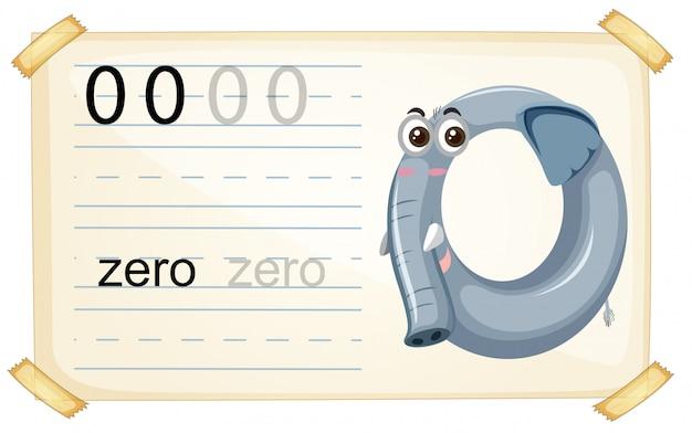 Elephant zero number worksheet