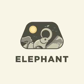 Elephant zoo logo