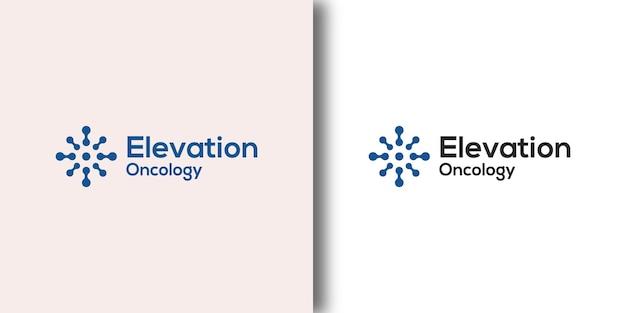 Шаблон логотипа elevation oncology с современной концепцией