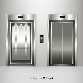Elevator element collection with realistic design