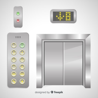 Elevator with buttons