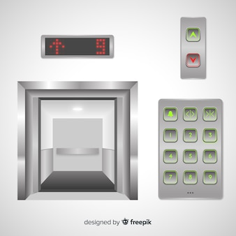 Elevators with buttons