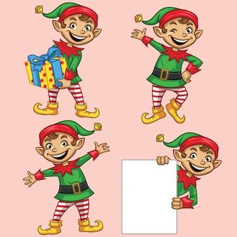 Elf christmas character set