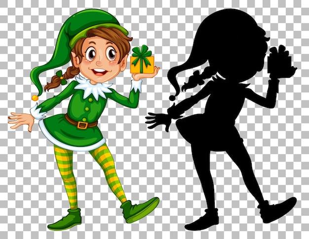 Elfo che tiene la casella attuale