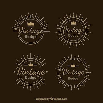 Elgant set of vintage badges