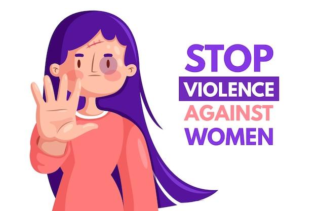 Устранение насилия в отношении женщин в стиле