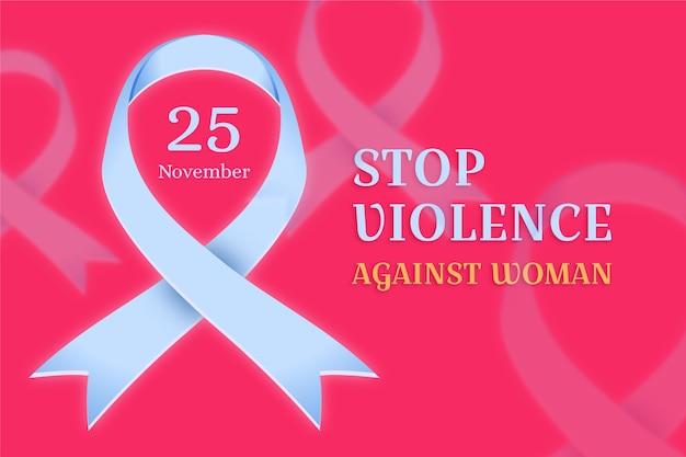 Eliminazione della violenza contro le donne - nastro di sensibilizzazione