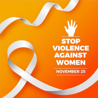 Elimination of violence against women - awareness ribbon
