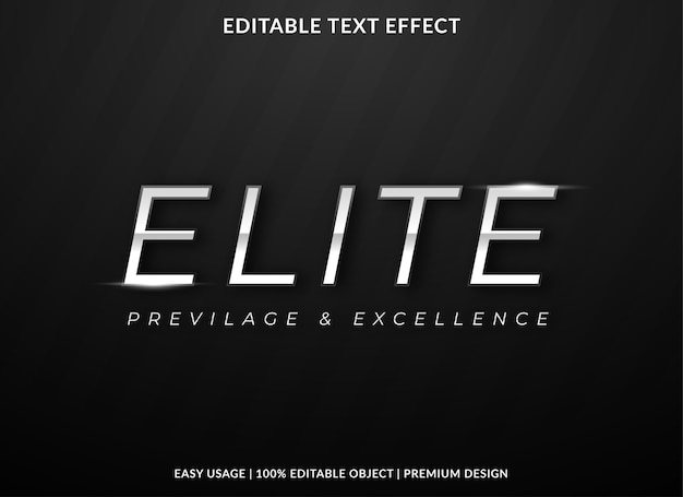 Элитный текстовый эффект шаблон премиум стиль
