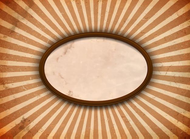 光線のある楕円フレーム