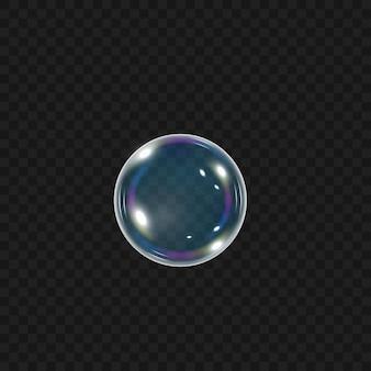 シャボン玉の形をした楕円。洗濯からの泡。バブル。シャンプー、泡。