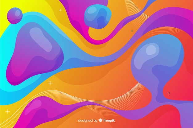 Elongated bubbles in liquid shapes background