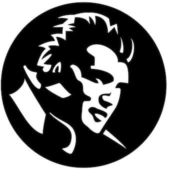 Elvis presley portrait black illustration