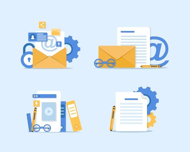 メールとメッセージングの図