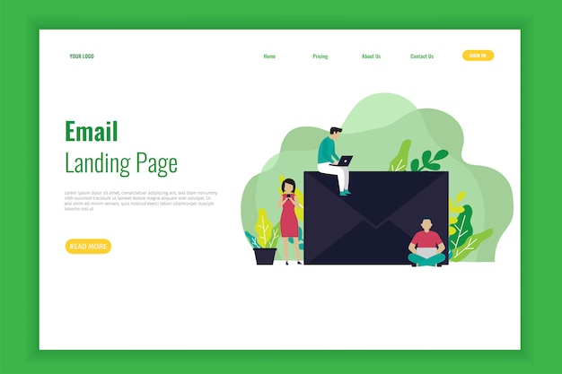 Email banner of landing page