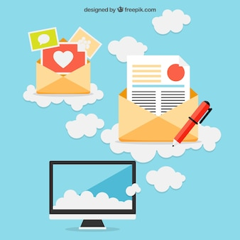 Email concept Free Vector
