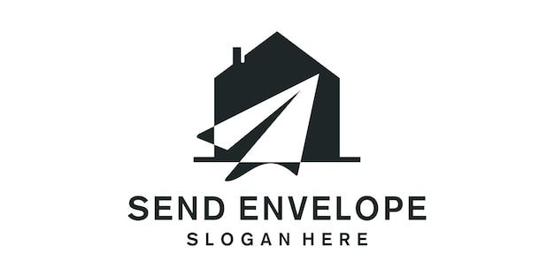 이메일 배달 디자인 로고