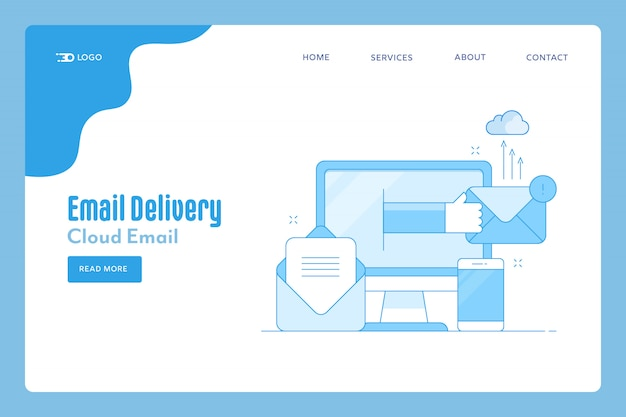 Email delivery landing page