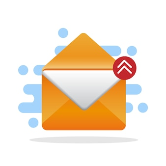 Email direct marketing, email advertising, email concept
