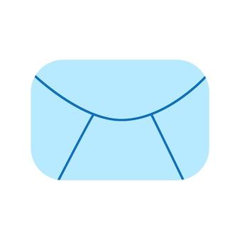 이메일 아이콘입니다. 메일 기호 평면 벡터 그래픽 일러스트 흰색 배경에 고립