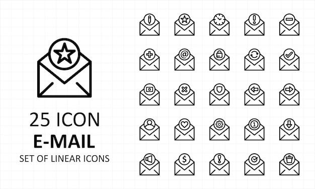 メールアイコンセットピクセルパーフェクト