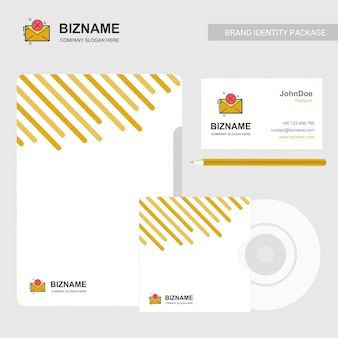 Email logo and business card template