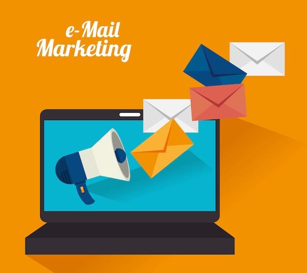 電子メールマーケティングデザイン。