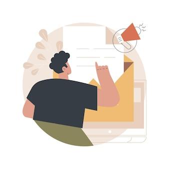 メールマーケティングのイラスト