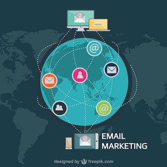 Email marketing infographic with user icons