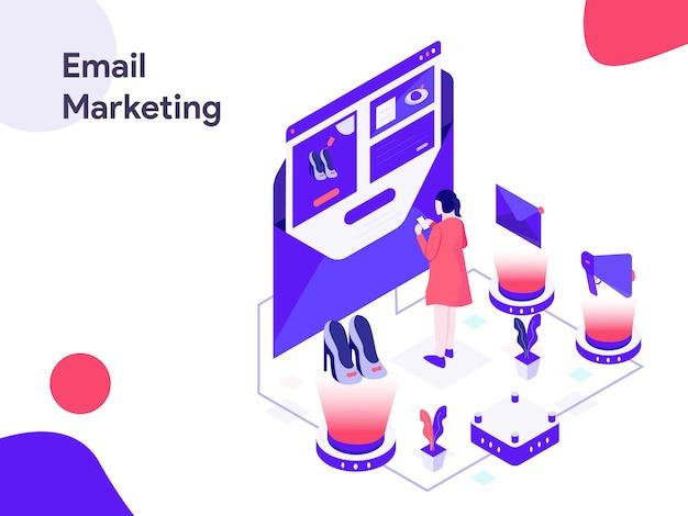 Email marketing isometric illustration