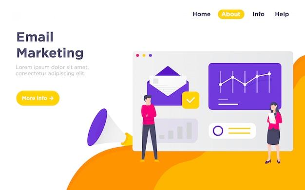 Email marketing landing page illustration