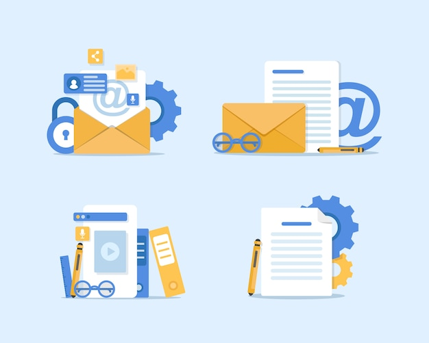 Email and messaging illustration