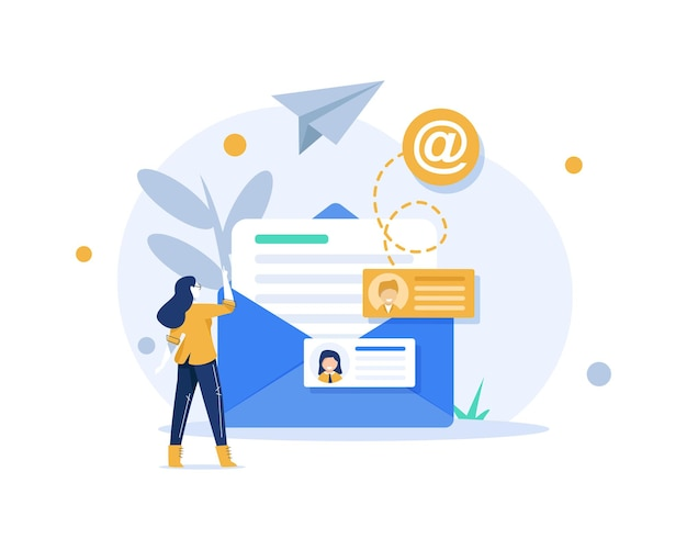 Email and messagingemail marketing campaignworking process new email message