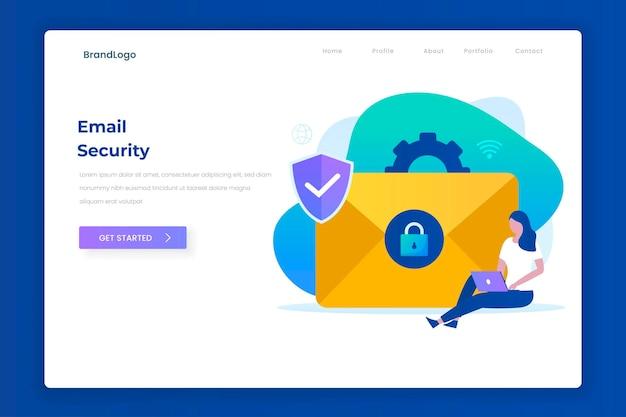 이메일 보호 그림 방문 페이지 개념.