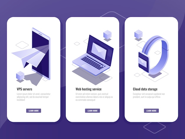 Email sent, online advertising isometric icon, smart devices with envelope on screen