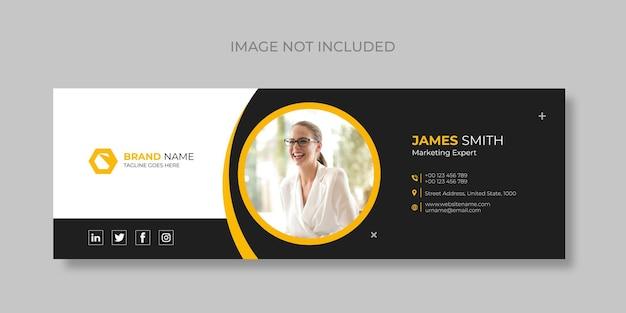 이메일 서명 및 개인 소셜 미디어 이메일 바닥글 템플릿 표지 디자인 프리미엄