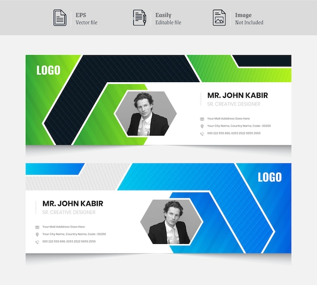 Email signature banner design template