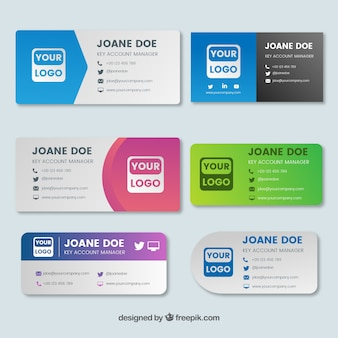 Email signature collection in gradient style